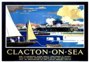 Clacton-on-Sea, Essex. LNER Vintage Travel Poster by Frank Henry Mason. 1931